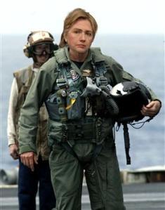 Hillary in Bosnia