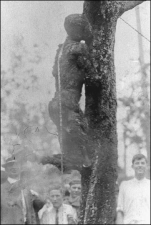 Jesse Washinton lynched-burned at the stake